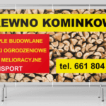 banery reklamowe projekt drewno kominkowe