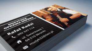 druk wizytówek wronki