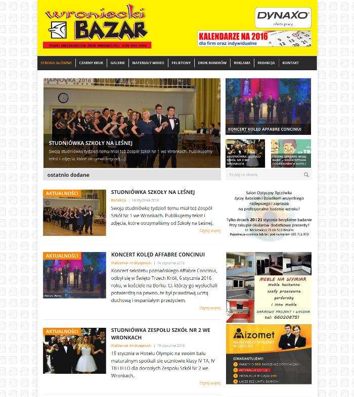 wroniecki bazar strona