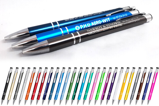 długopisy zgrawerem