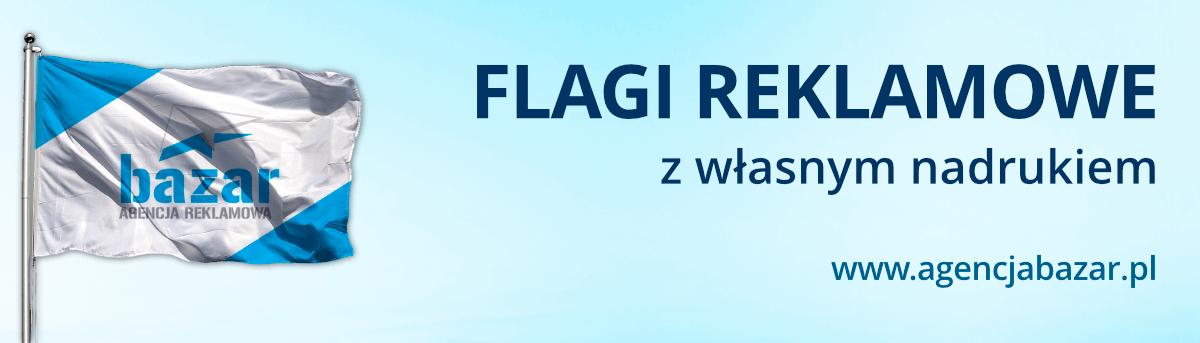 flagi reklamowe z własnym nadrukiem