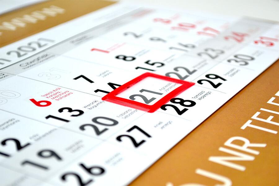 cennik kalendarzy jednodzielnych
