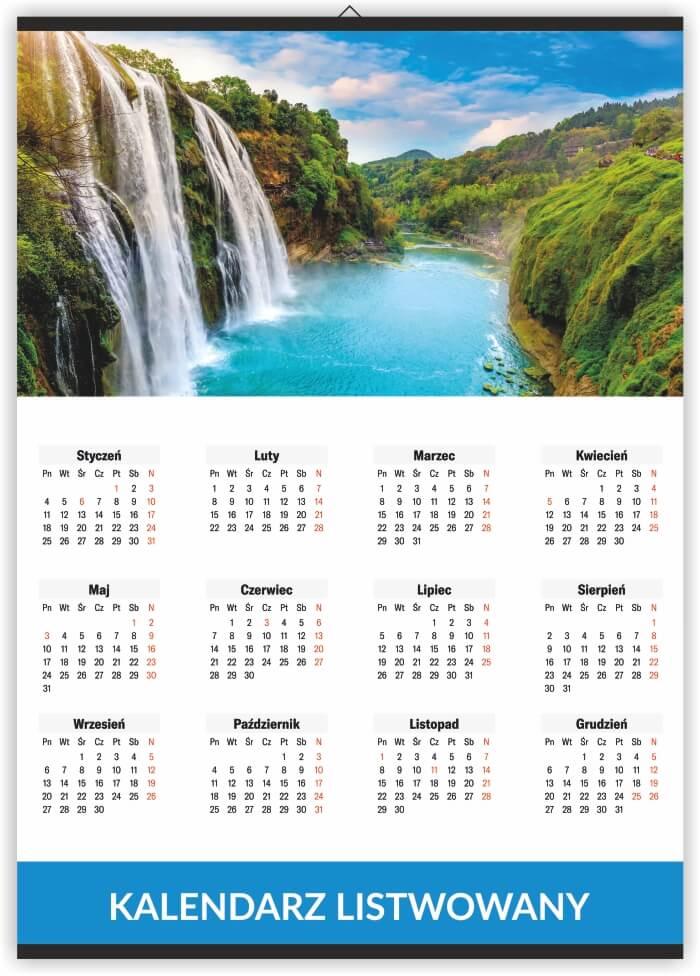 kalendarze listwowane drukarnia
