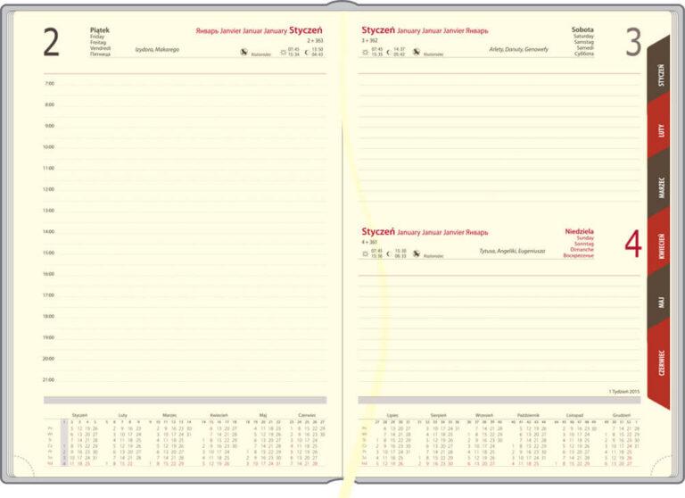 kalendarze książkowe znadrukiem grawerem firmowe
