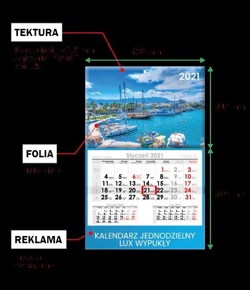 kalendarze zwłasnym nadrukiem tanio