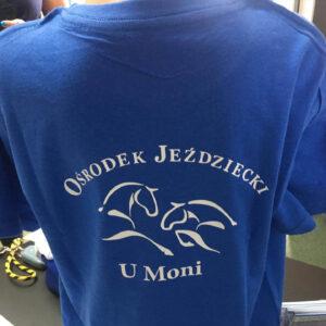 koszulki znadrukiem dla Ośrodka Jeździeckiego