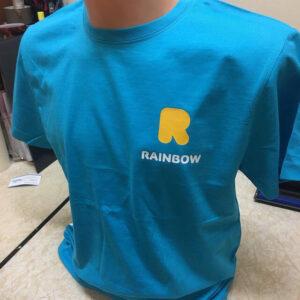 nadruki nakoszulkach, koszulki znadrukiem, logo rainbow