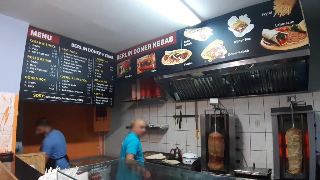 Tablice PVC kebab turecki
