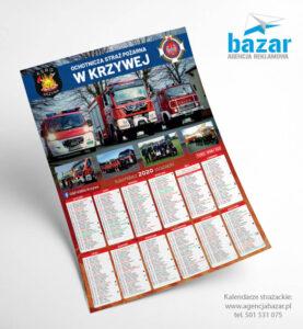 Kalendarze strażackie dla OSP Krzywa