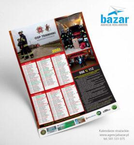 Kalendarze strażackie zinstrukcją przeciwpożarową