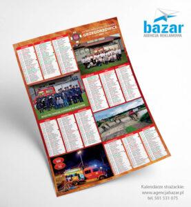 Kalendarze strażackie przykładowe projekty wzory