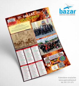 Kalendarze strażackie projekt